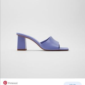 Zara purple leather heeled Sandals